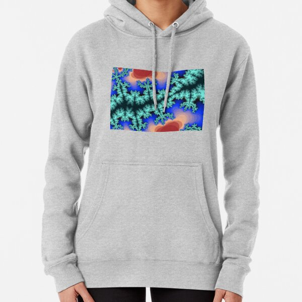 Fractal Art 26 designed and created by (c) Janet Watson Art Pullover Hoodie