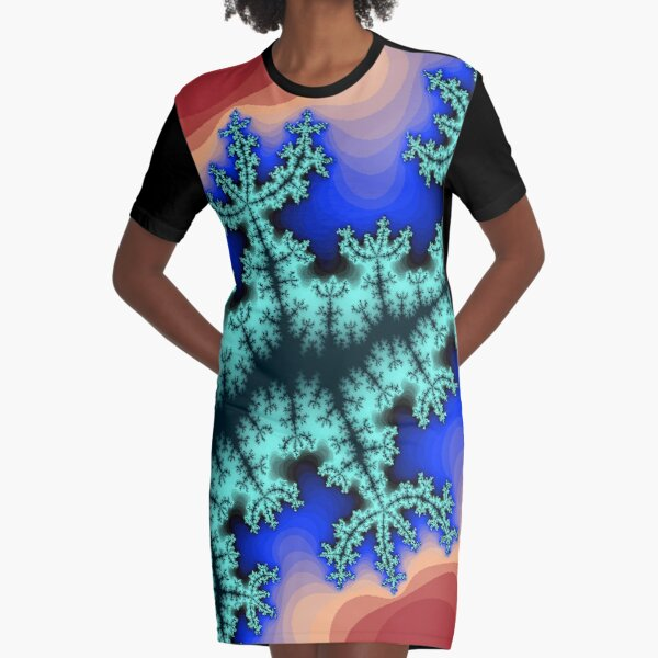 Fractal Art 26 designed and created by (c) Janet Watson Art Graphic T-Shirt Dress