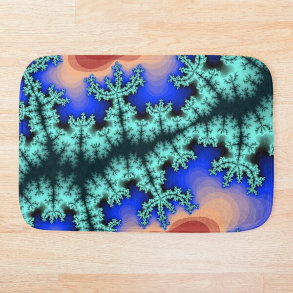 Fractal Art 26 designed and created by (c) Janet Watson Art Bath Mat