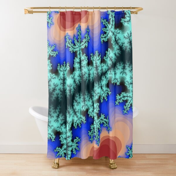 Fractal Art 26 designed and created by (c) Janet Watson Art Shower Curtain