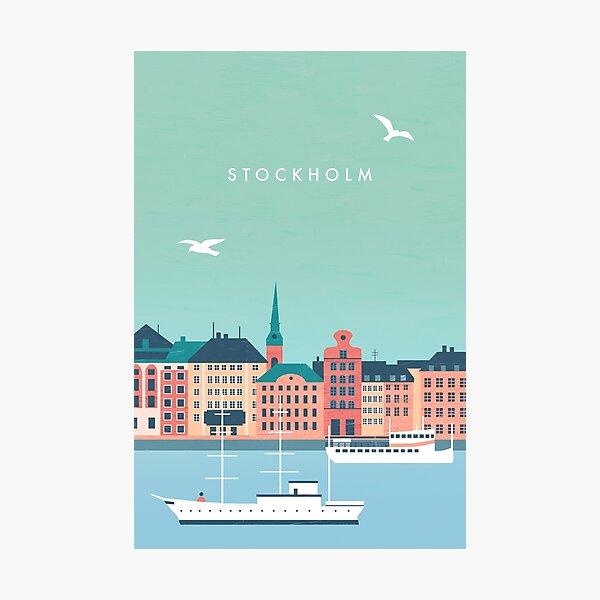 Stockholm Travel Poster Photographic Print