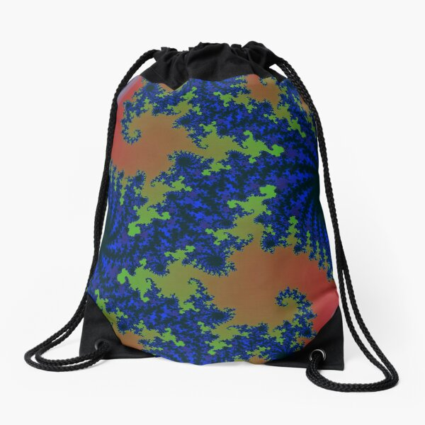 Fractal Art 19 designed and created by (c) Janet Watson Art Drawstring Bag