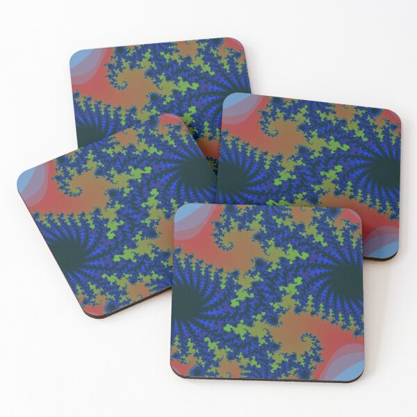 Fractal Art 19 designed and created by (c) Janet Watson Art Coasters (Set of 4)