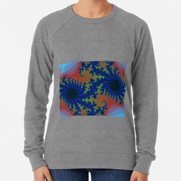 Fractal Art 19 designed and created by (c) Janet Watson Art Lightweight Sweatshirt