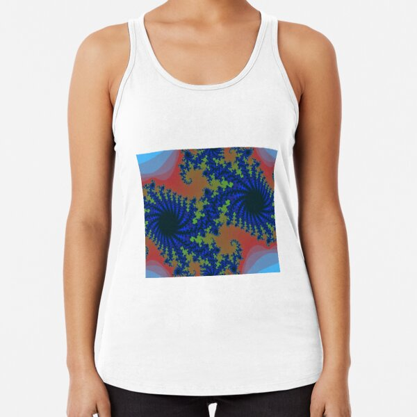 Fractal Art 19 designed and created by (c) Janet Watson Art Racerback Tank Top