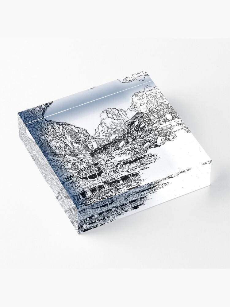 Alternate view of Mountain Landform Acrylic Block