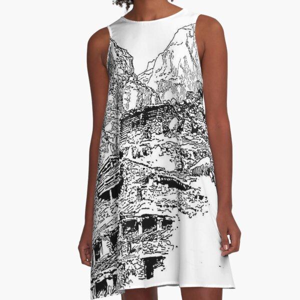 Mountain Landform A-Line Dress