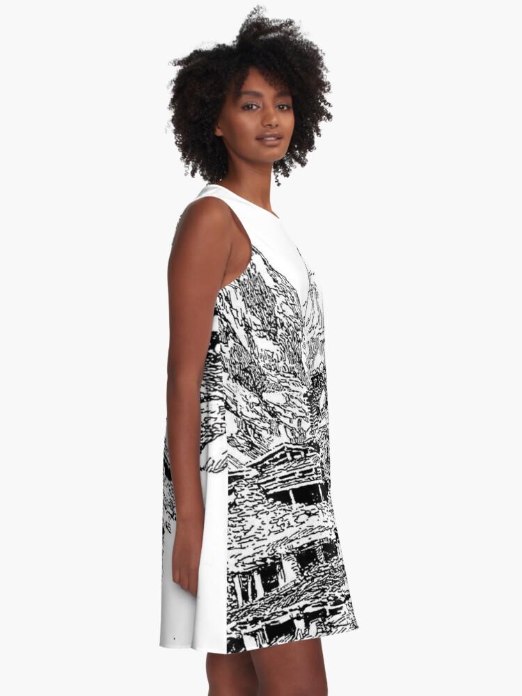 Alternate view of Mountain Landform A-Line Dress