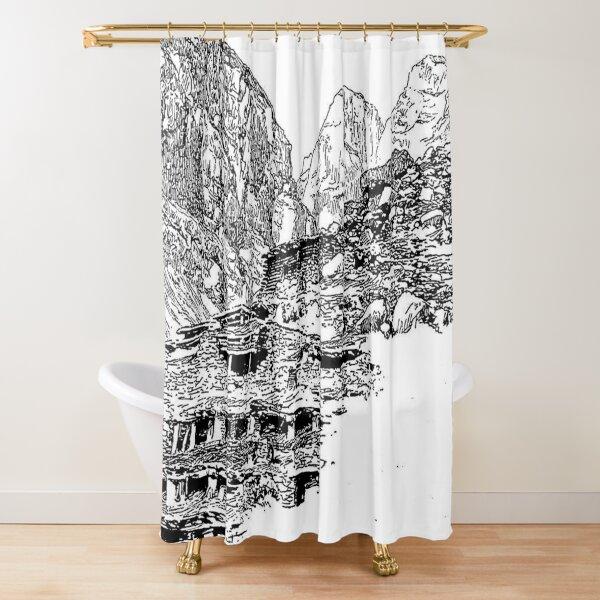 Mountain Landform Shower Curtain