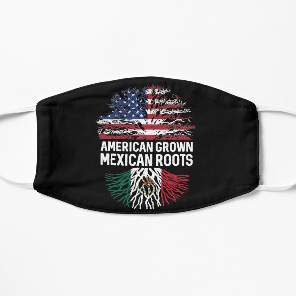 American Grown Mexican roots US and Mexico flag tree  Mask