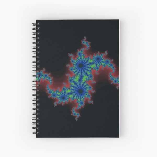 Fractal Art 20 designed and created by (c) Janet Watson Art Spiral Notebook