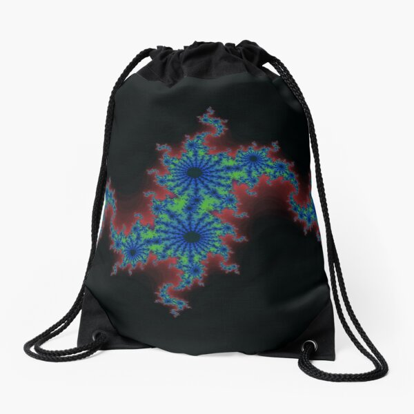 Fractal Art 20 designed and created by (c) Janet Watson Art Drawstring Bag