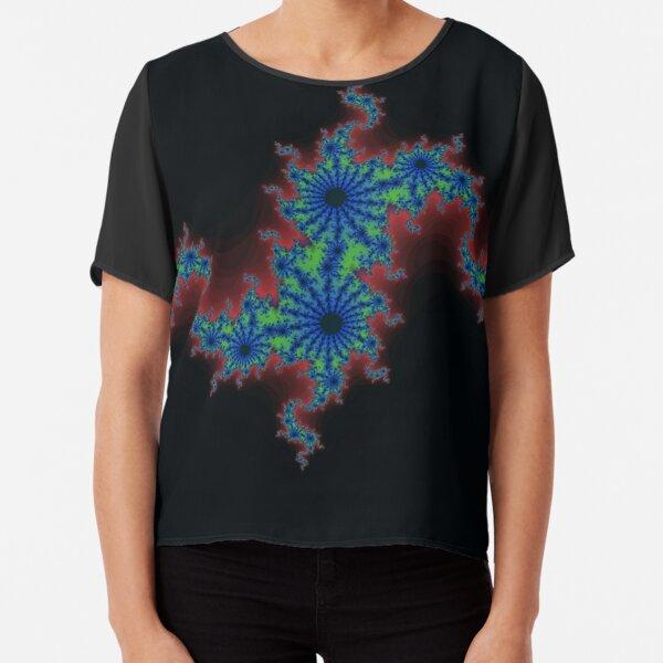 Fractal Art 20 designed and created by (c) Janet Watson Art Chiffon Top