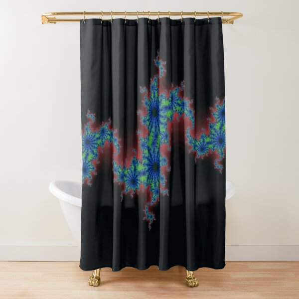 Fractal Art 20 designed and created by (c) Janet Watson Art Shower Curtain