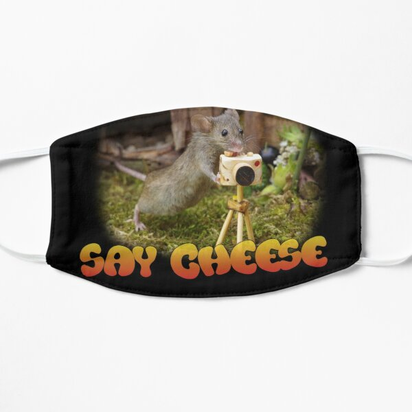 wild mouse with a camera - say cheese  Flat Mask