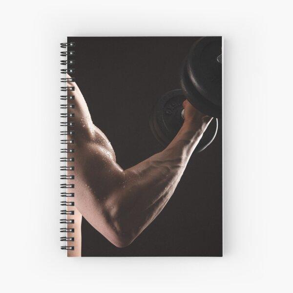 Hard work, hard muscles Spiral Notebook