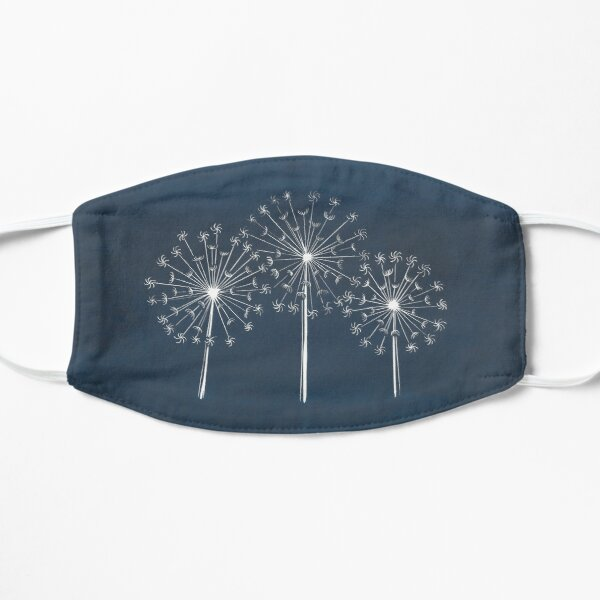 Dandelion linocut Mask
