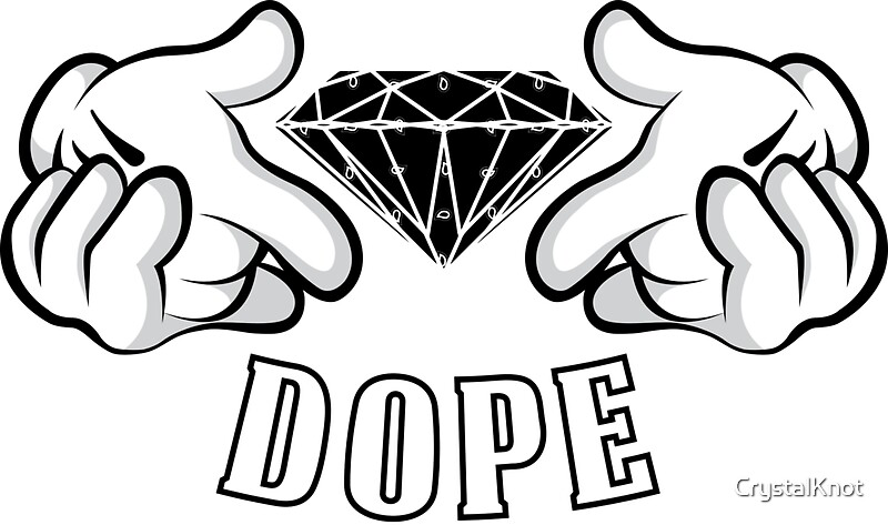 quotdiamond hands dopequot stickers by crystalknot redbubble