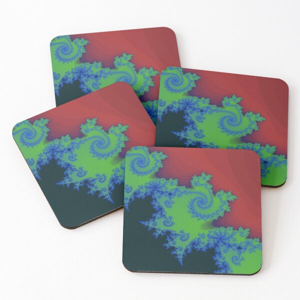Fractal Art 18 designed and created by (c) Janet Watson Art Coasters (Set of 4)