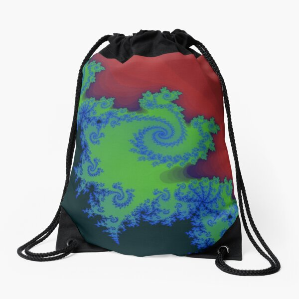 Fractal Art 18 designed and created by (c) Janet Watson Art Drawstring Bag