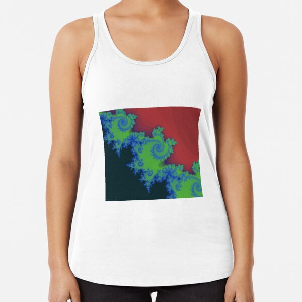 Fractal Art 18 designed and created by (c) Janet Watson Art Racerback Tank Top