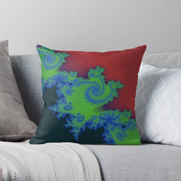 Fractal Art 18 designed and created by (c) Janet Watson Art Throw Pillow