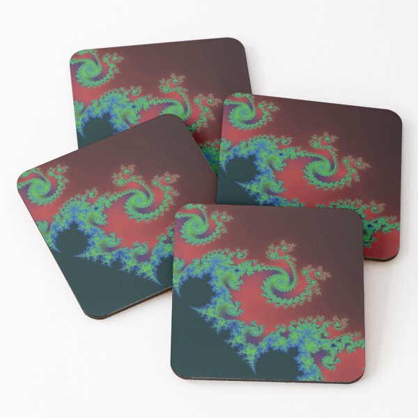 Fractal Art 17 designed and created by (c) Janet Watson Art Coasters (Set of 4)