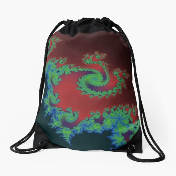 Fractal Art 17 designed and created by (c) Janet Watson Art Drawstring Bag