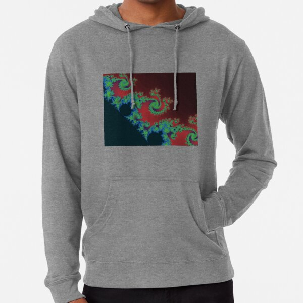 Fractal Art 17 designed and created by (c) Janet Watson Art Lightweight Hoodie
