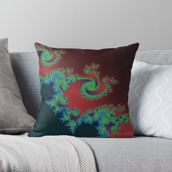 Fractal Art 17 designed and created by (c) Janet Watson Art Throw Pillow