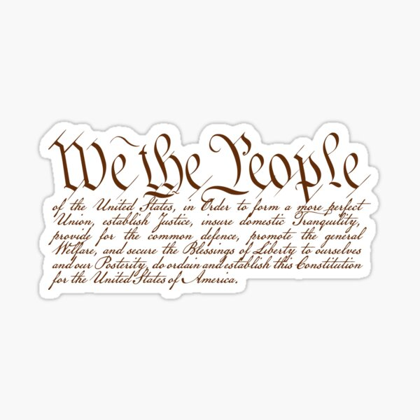 We the People Pegatina