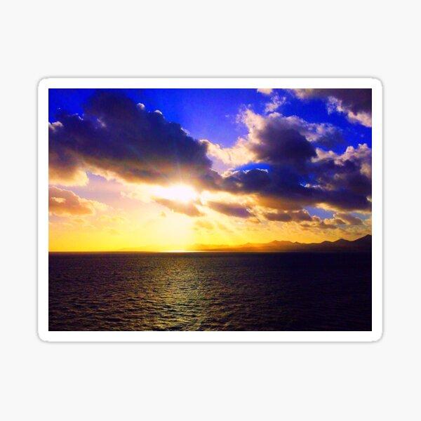 Sunset on the Canary Islands sea Sticker