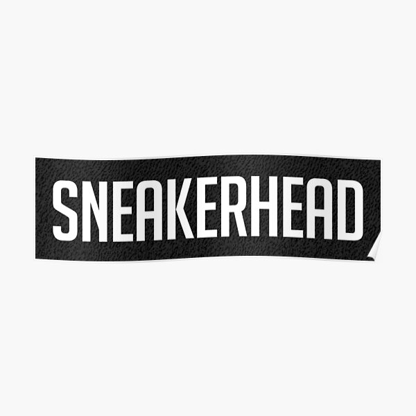 Sneakerhead Yeezy Boost 350 motif noir Poster