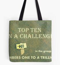 Banner TopTen Numbers Tote Bag