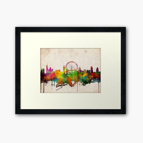 london city skyline 4 Framed Art Print