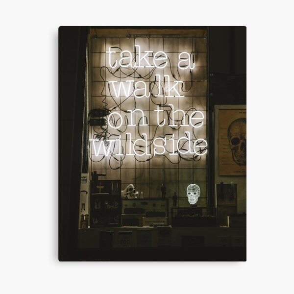 Take a Walk on the Wild Side | Street and Art Photography Canvas Print