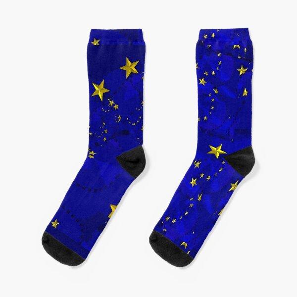 Eu Flag pattern Socks