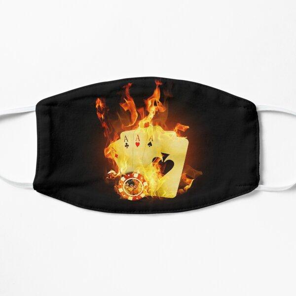 Burning Poker Cards Flat Mask