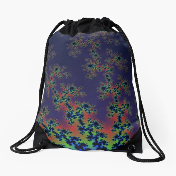 Fractal Art 12 designed and created by (c) Janet Watson Art Drawstring Bag