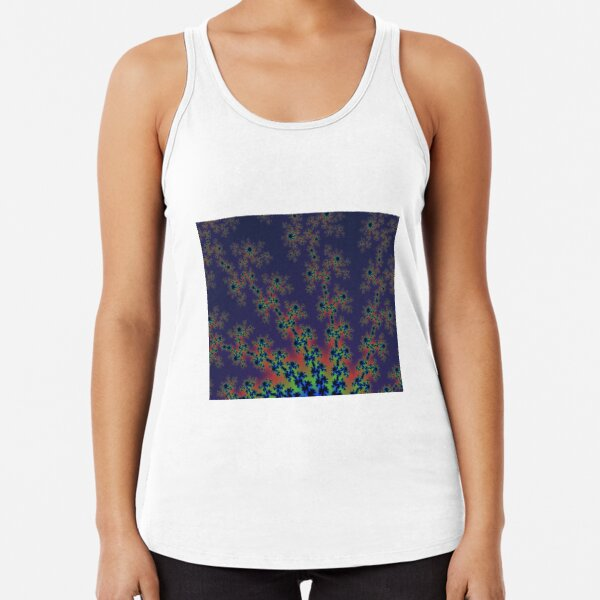 Fractal Art 12 designed and created by (c) Janet Watson Art Racerback Tank Top