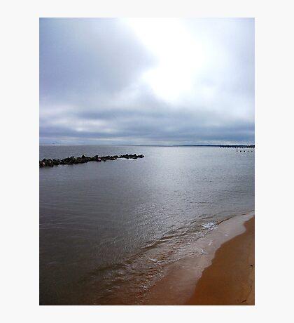 Light Waves Upon The Coast! Photographic Print