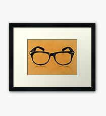 Geek Glasses Framed Print