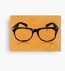 Geek Glasses Canvas Print
