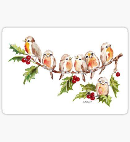 Seven Little Birds Sticker
