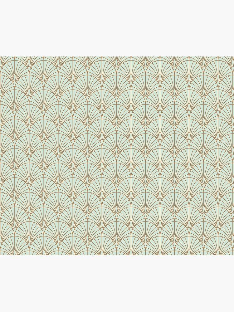 Art Deco Fan Pattern by KookiePixel