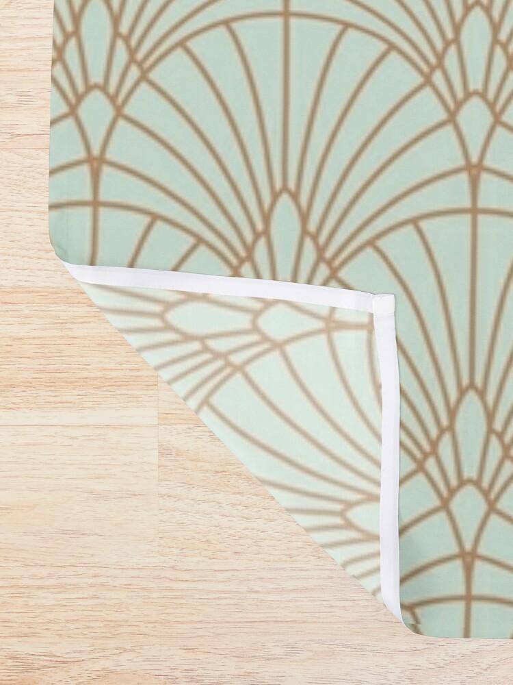 Alternate view of Art Deco Fan Pattern Shower Curtain