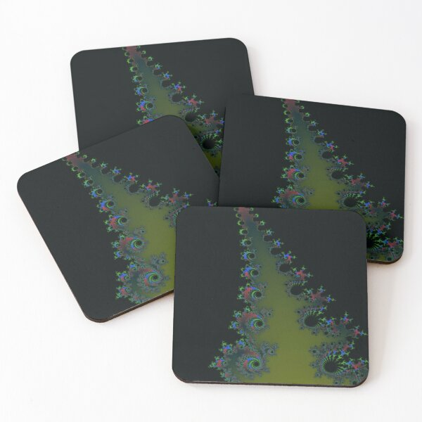 Fractal Art 7 designed and created by (c) Janet Watson Art Coasters (Set of 4)
