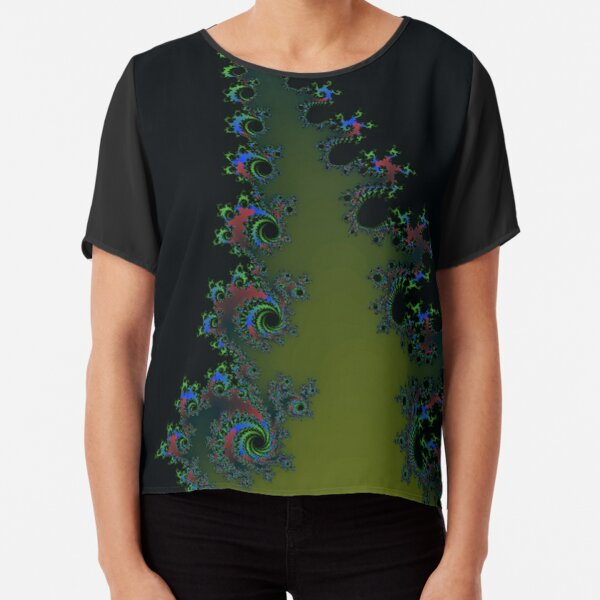 Fractal Art 7 designed and created by (c) Janet Watson Art Chiffon Top
