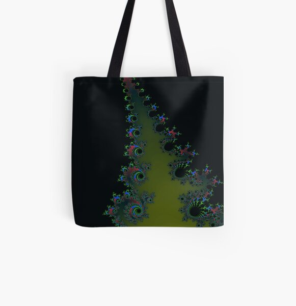 Fractal Art 7 designed and created by (c) Janet Watson Art All Over Print Tote Bag