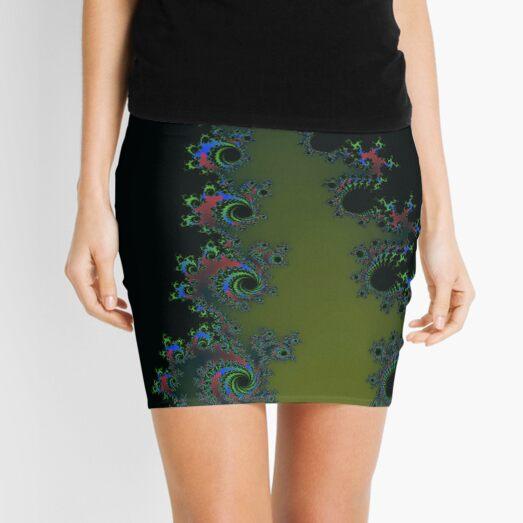 Fractal Art 7 designed and created by (c) Janet Watson Art Mini Skirt